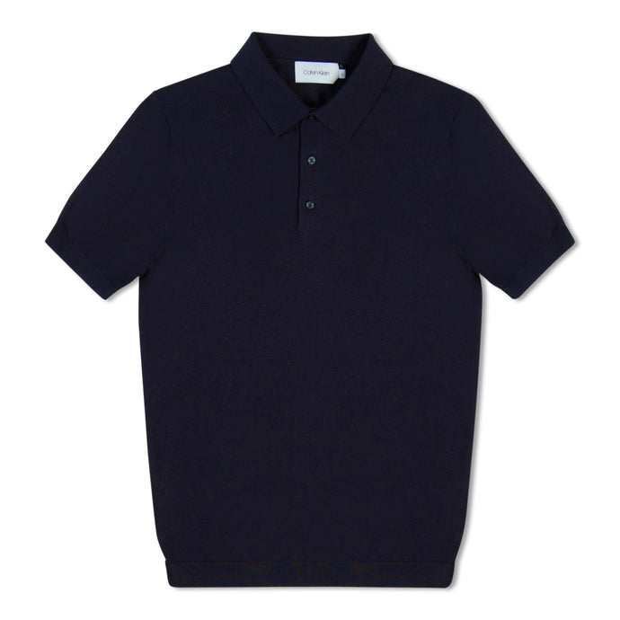 Navy Blue Calvin Klein Knitted Polo