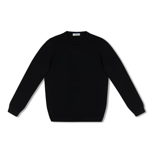 Navy Untitled Atelier Contrast Collar Knitted Crew Neck