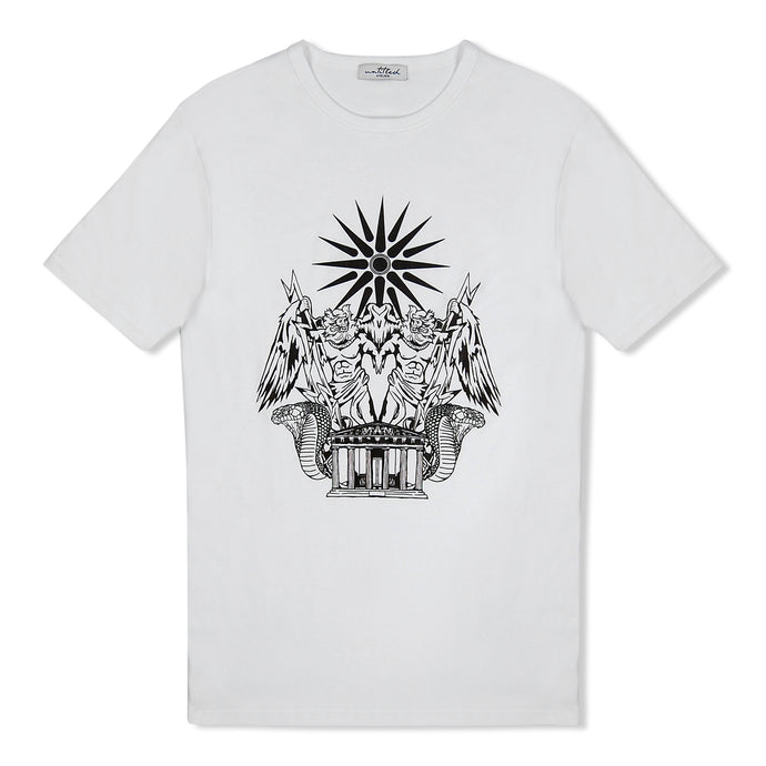 White Untitled Atelier Zeus Print T-Shirt