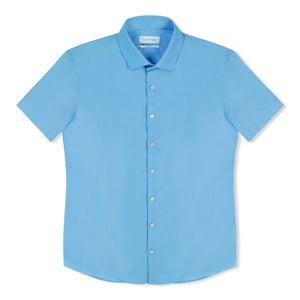 Light Blue Calvin Klein Poplin SS Shirt