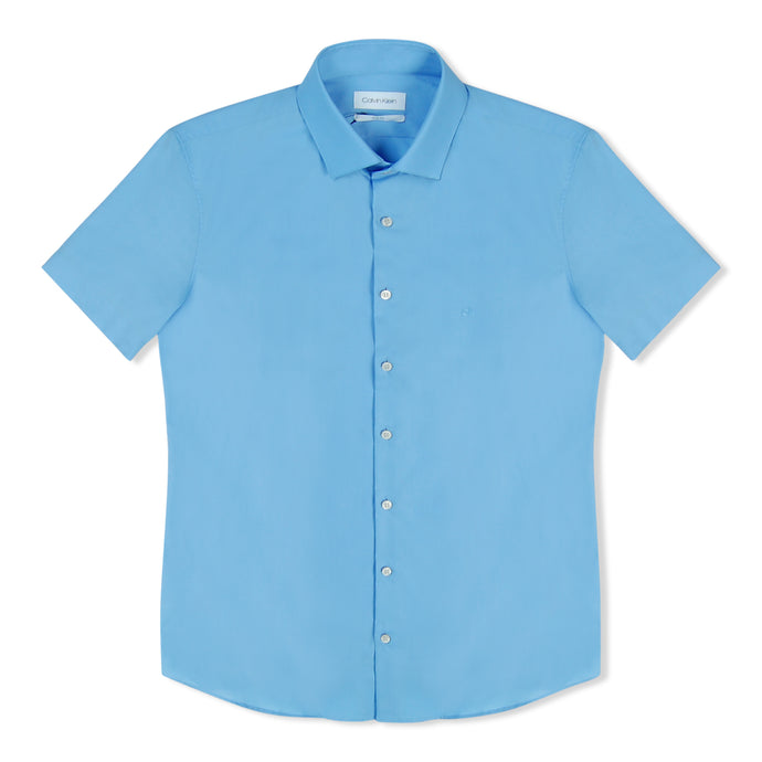 Calvin Klein Poplin SS Shirt - Light Blue