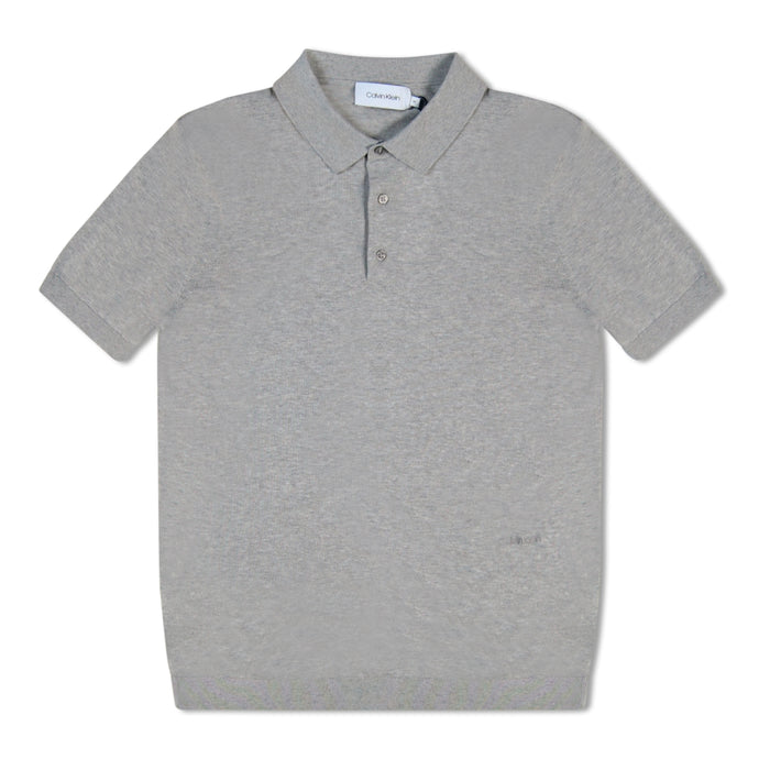 Light Grey Calvin Klein Knitted Polo