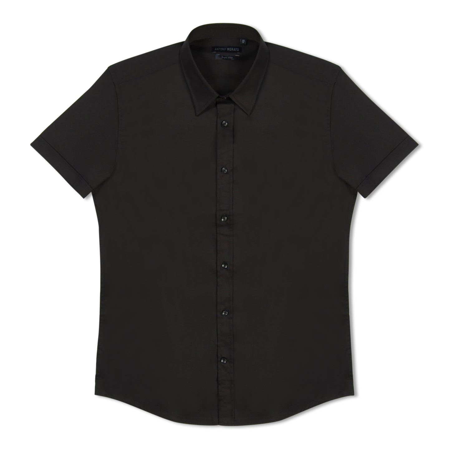 Black Antony Morato Super Slim SS Shirt