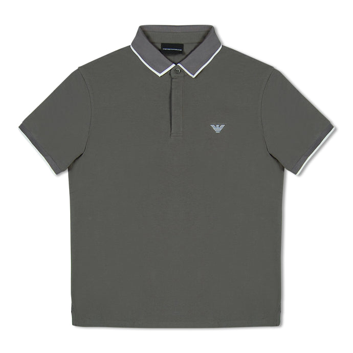 Grey Emporio Armani White Eagle Polo