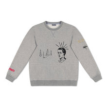 Grey Lanvin Emroidered Face Sweatshirt
