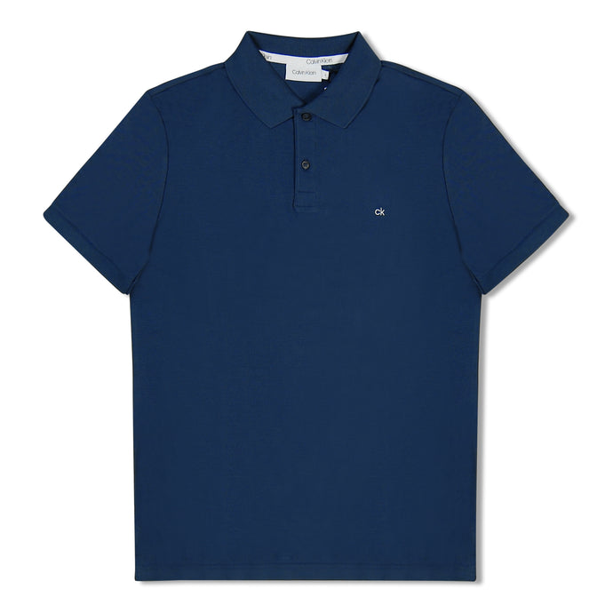 Denim Blue Calvin Klein Pique Polo
