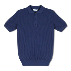Dark Purple Untitled Atelier Waffle Knit Polo