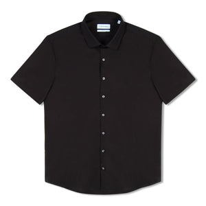 Calvin Klein Stretch Slim S/S Shirt - Black