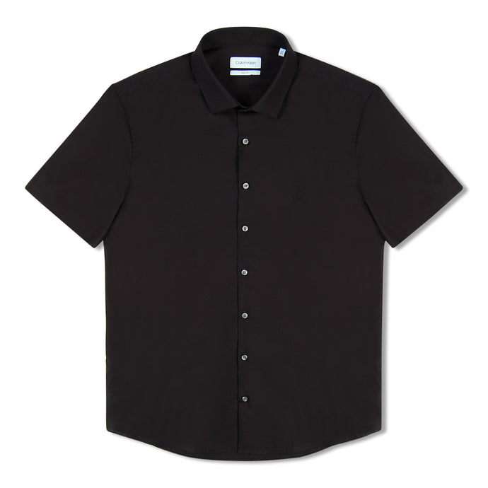 Black Calvin Klein Stretch Slim S/S Shirt