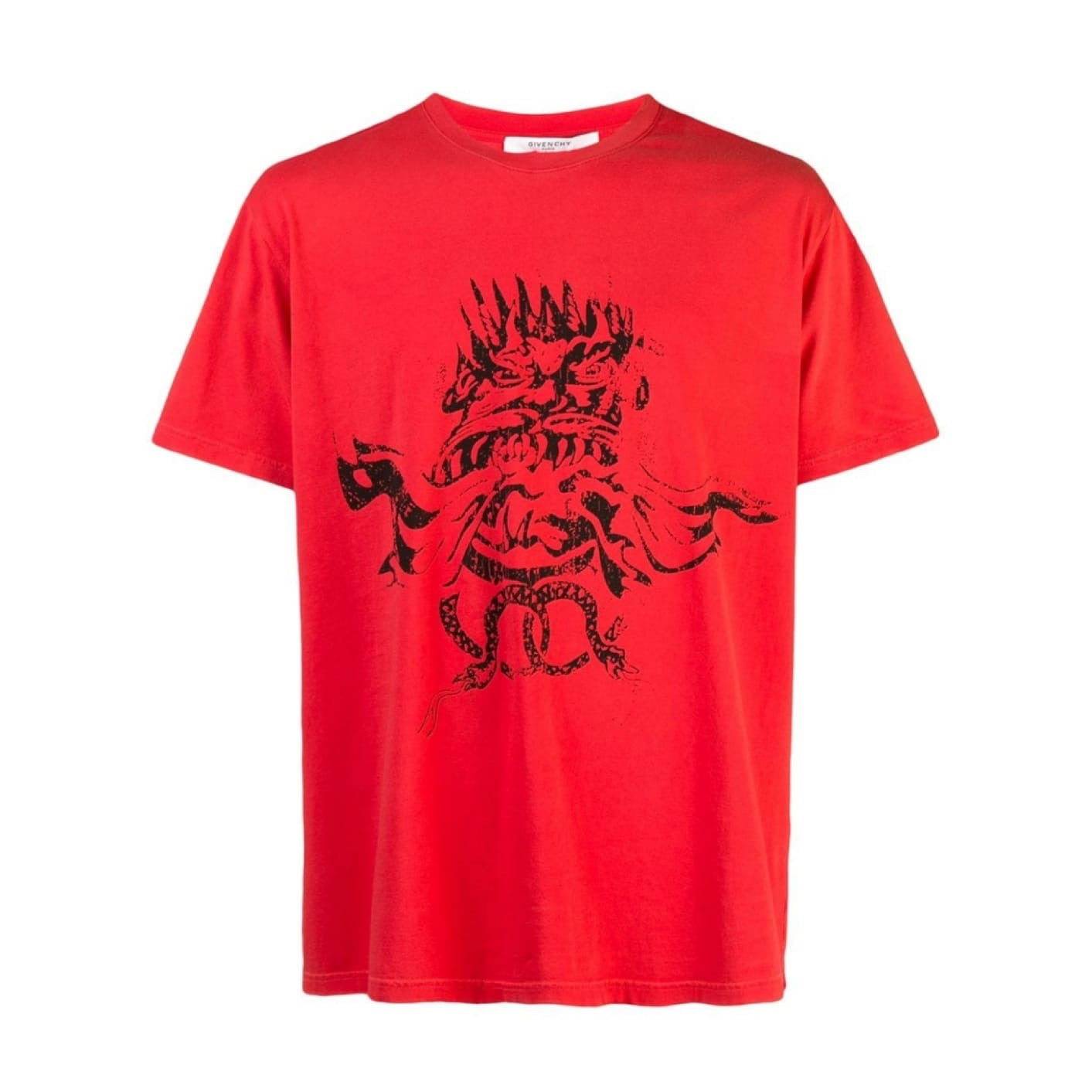 Red Givenchy 4g Snake T-shirt