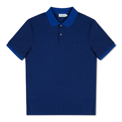 Royal Blue Calvin Klein Stripe Polo