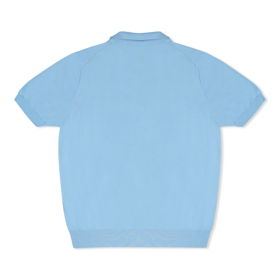 Untitled Atelier Knitted SS Polo - Light Blue