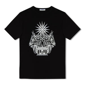 Black Untitled Atelier Zeus Print T-Shirt