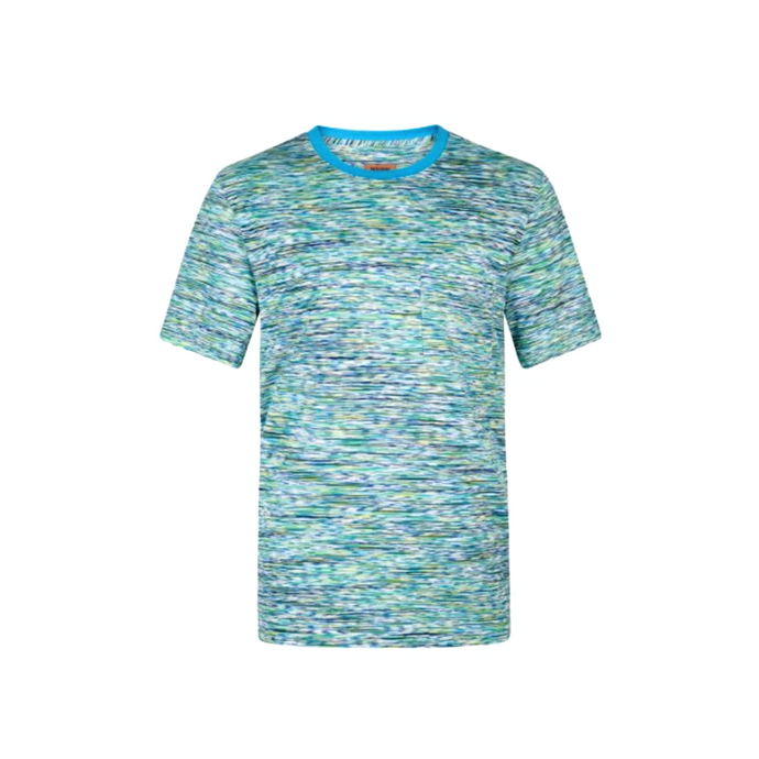 Blue/Green Missoni Contrast Collar T-Shirt