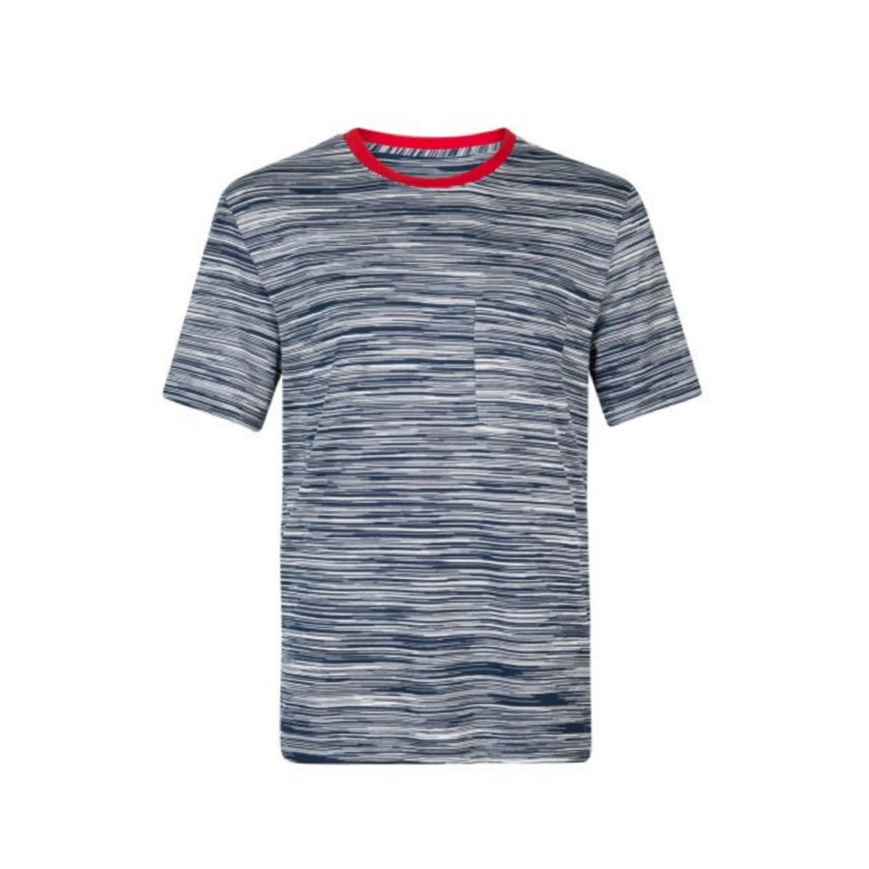 Navy Missoni Contrast Collar T-Shirt