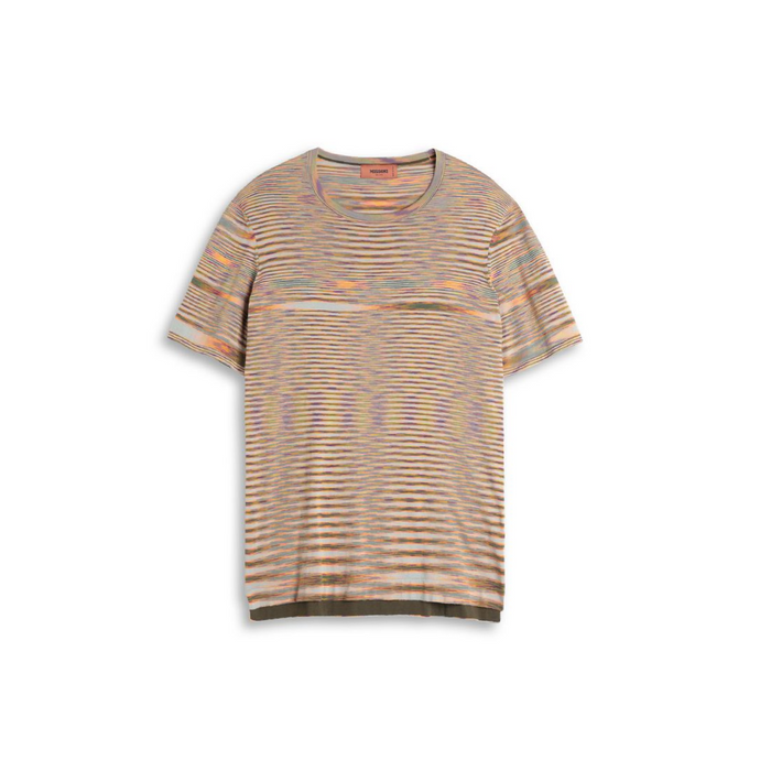 Beige/Orange Missoni Knitted T-Shirt