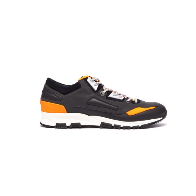 Black/Orange Lanvin Leather/Suede Runners