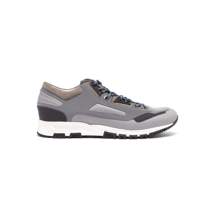 Grey Lanvin Leather/Suede Runners