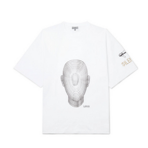 White Lanvin Geometric Head T-Shirt