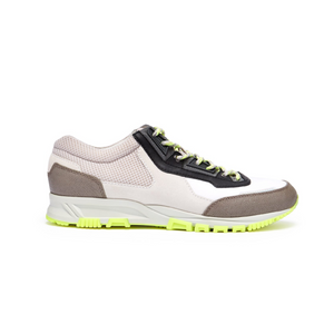 White/Neon Green Lanvin Cross Runners