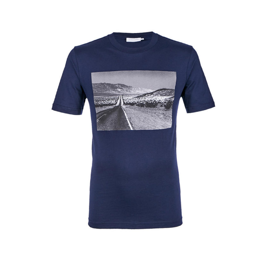 Navy Blue Calvin Klein Photo Print T-Shirt