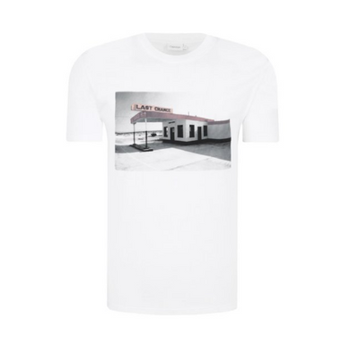 White Calvin Klein Gas Station Photo T-Shirt