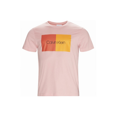Blush Pink Calvin Klein Colour Block T-Shirt
