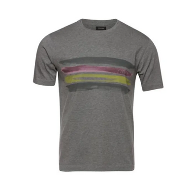 Grey Z Zegna Water Colour Stripe T-Shirt