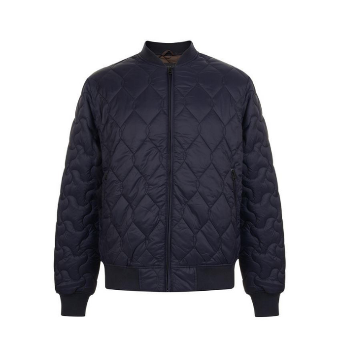 French Connection Stitch Pattern Jacket Navy