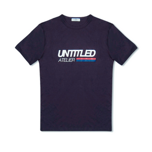 Navy Untitled Atelier Race Logo T-Shirt
