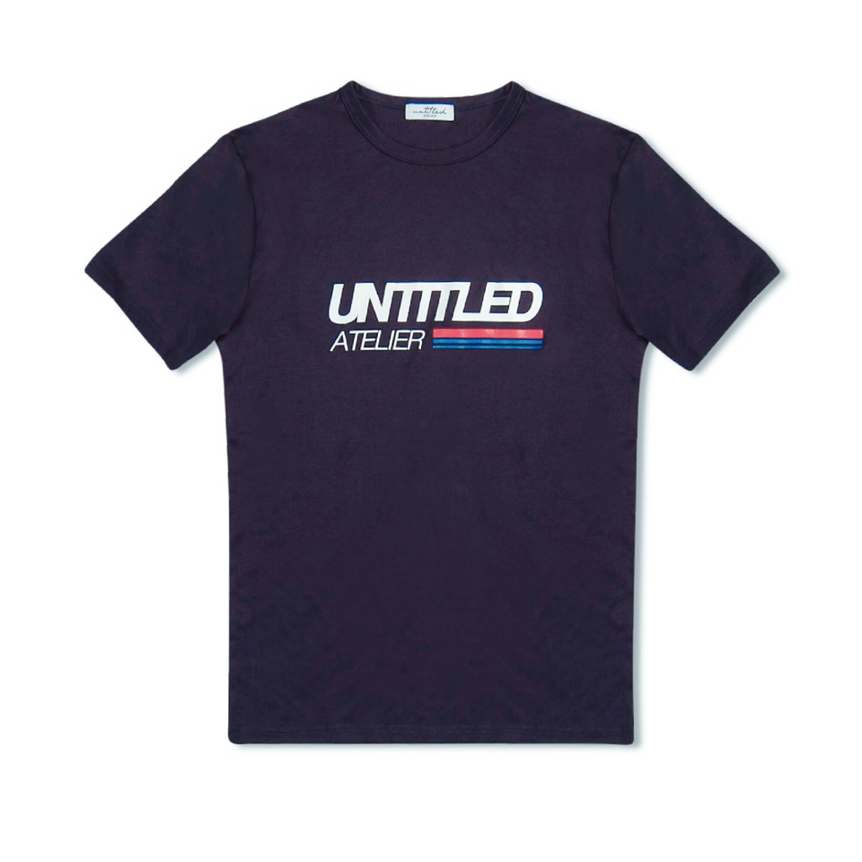 Untitled Atelier Race Logo T-Shirt - Navy