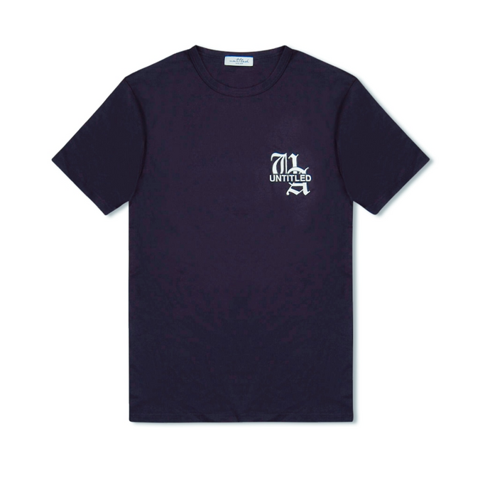 Navy Untitled Atelier Chest Logo T-Shirt