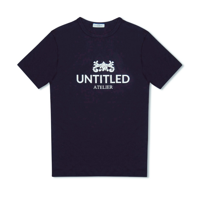 Navy Untitled Atelier Family Crest Logo T-Shirt