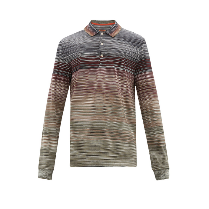 Multi Grey/Khaki Missoni L/S Polo