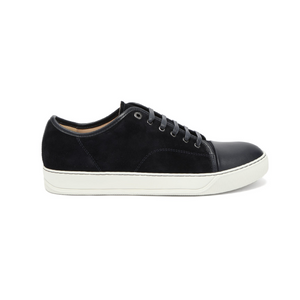 Black Lanvin Matt Cap Toe Trainers
