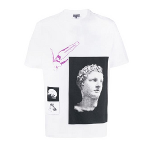 White Lanvin Greek Print T-Shirt