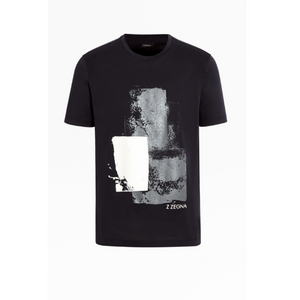 Black Z Zegna Printed T-Shirt