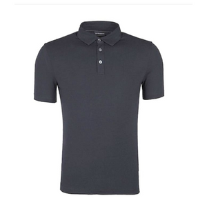 Navy Blue Emporio Armani Short Sleeve Jersey Polo