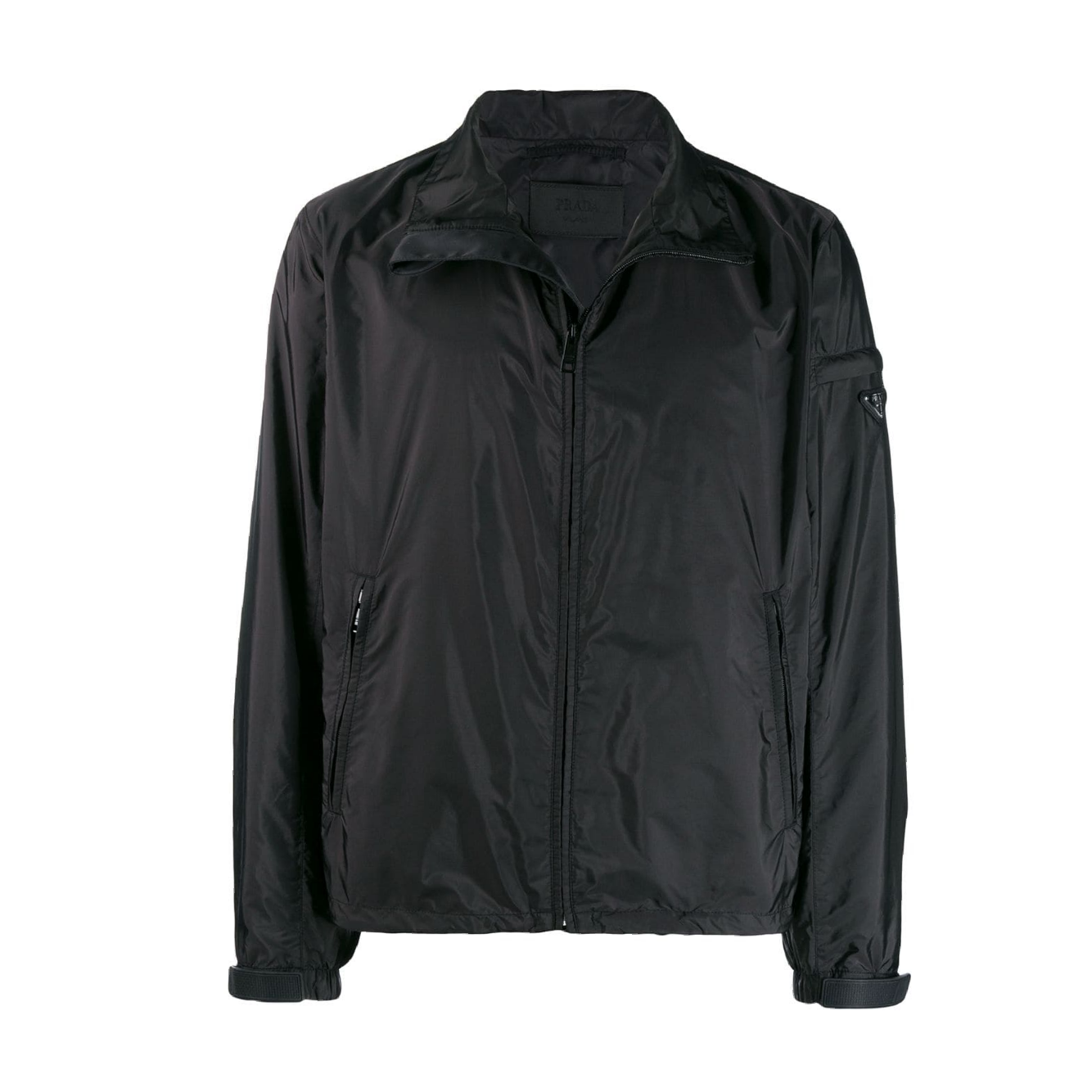 Prada Nylon Windbreaker Jacket - Black