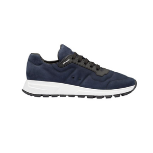 Navy Mens Prada Nubuck Trainers