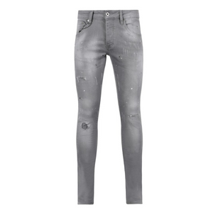 7TH HVN Ripped Slim Jeans - Grey