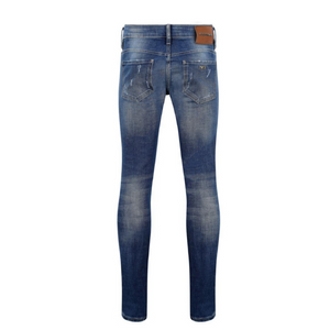 Blue Washed 7TH HVN Ripped Faded Slim Jeans