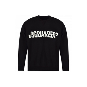 Black Dsquared2 Sliced Logo Sweatshirt