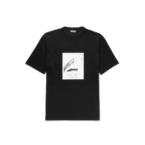Black Lanvin Box Shark T-Shirt