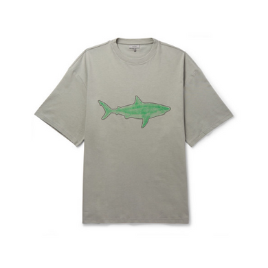 Grey Lanvin Oversized Shark T-Shirt