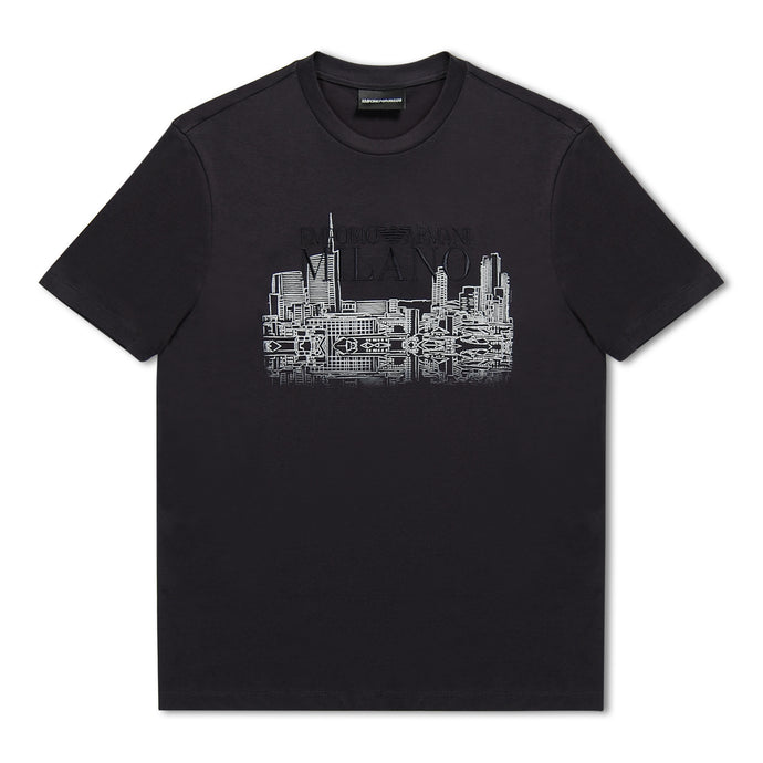 Emporio Armani City Print T-Shirt - Navy
