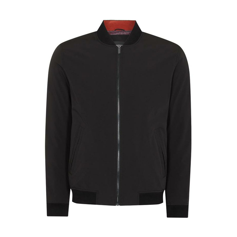 Remus Uomo Tapered Bomber Jacket - Black