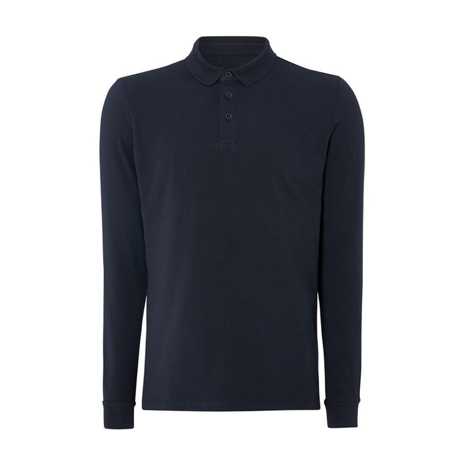 Remus Uomo Jersey LS Polo - Navy