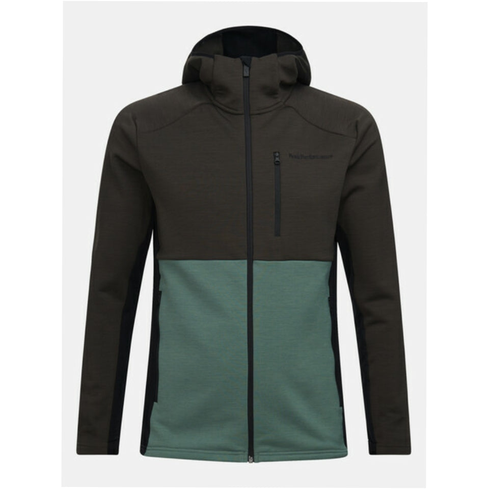 Peak Performance Vertical Mid Hooded Jacket - Coniferous Green