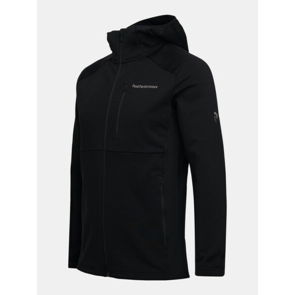 Peak Performance Vertical Mid Hooded Jacket - Black
